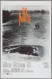 La notte directed by Michelangelo Antonioni, 1961