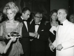 Michelangelo Antonioni with Monica Vitti, 1962
