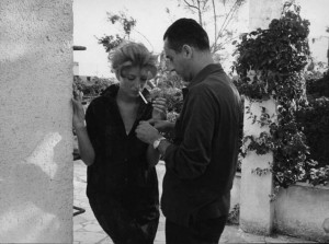 Monica Vitti with Michelangelo Antonioni, 1960's