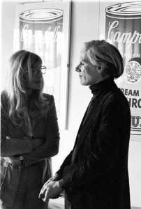 Monica Vitti and Andy Warhol (Ph Elisabetta Catalano)