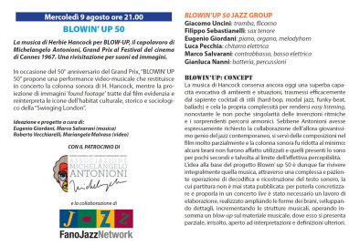 Blowin' up 50 – Ente Concerti di Pesaro – BLOWIN'UP 50 JAZZ GROUP