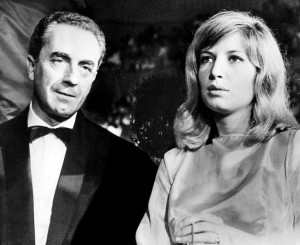 Michelangelo Antonioni and Monica Vitti at the Venice International Film Festival in 1964