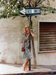 talian actress Monica Vitti on the set of 'The Girl with the Pistol', 26th October 1967. Images by fashion photographer John Cowan